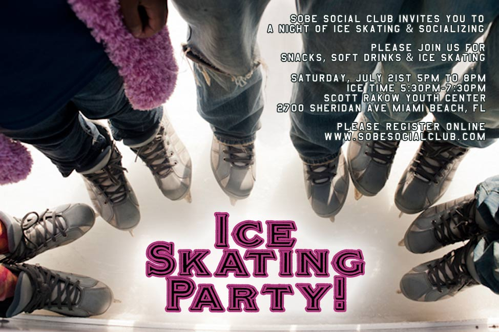 Ice Skating Social in Miami Beach