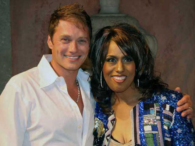 Edison Farrow and Jennifer Holliday
