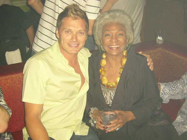 Edison Farrow and Nichelle Nichols